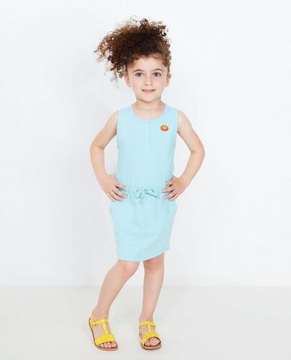 IJsblauwe jurk